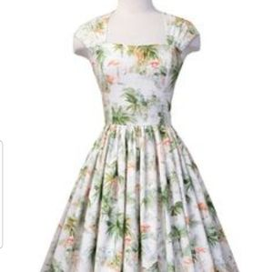 Bernie Dexter Flamingo Print Dress 2XL NWOT
